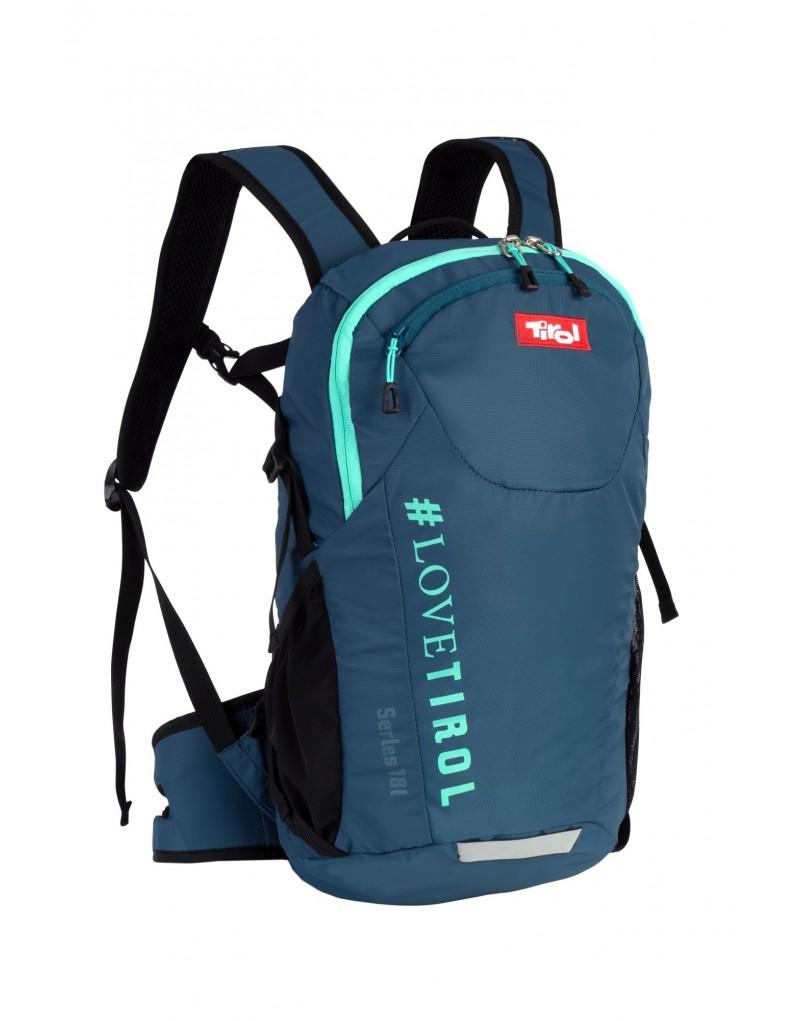 """Rucksack """"Serles"""" ist ein vielseitiger Rucksack mit Mehrwert: Dieser Alleskönner - in der Tirol-Kollektion in vier Trendfarben erhältlich - überzeugt mit vielen Details, die im täglichen Einsatz notwendig und hilfreich sind. Der Rucksack hat einen Volumen von 18 Liter.    Details:   • AIR FLOW Rückwandsystem • geräumiges Hauptfach • kleine Tasche an der Innenseite mit Reißverschluss und Schlüssel-Klipp • kleine aufgesetzte Außentasche • ergonomisch geformte Schaumträgermit Brustgurt • Kompressionsriemen, 3M Reflektoren • H2O ready • 2 Stretch-Seitentaschen für Flaschen • leichtes PU-beschichtetes Nylon • Ideal für Wandern, Trekking, Sport, Reisen,Bergsteigen, Outdoor, Camping usw.   in den Farben: Violett, Petrol, Stein und Schwarz erhältlich."""