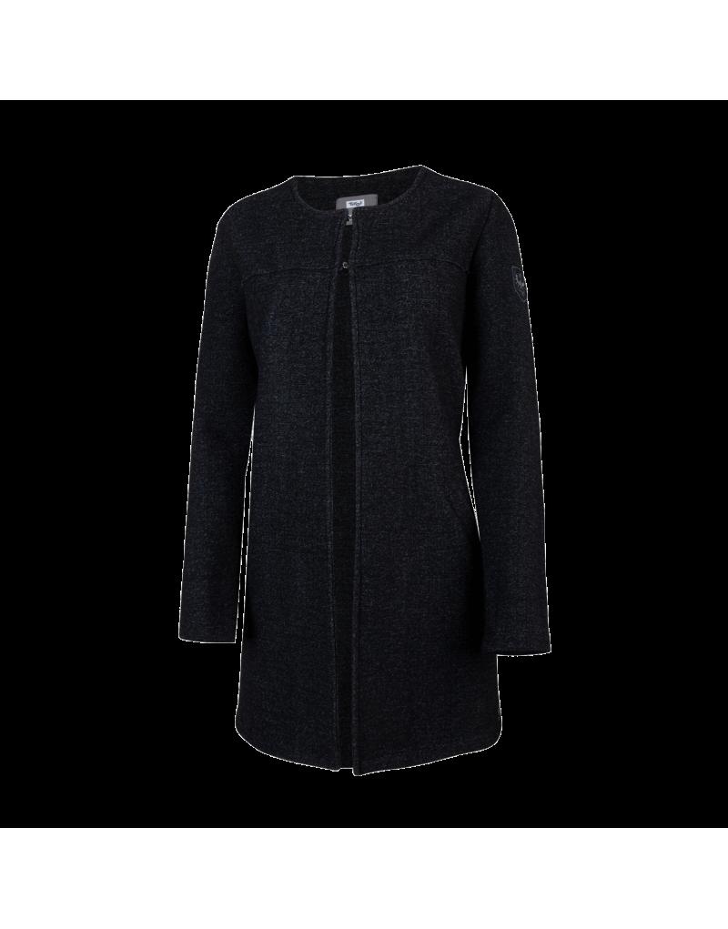 Mantel in leichter A-Linie   verschließbar mit zwei Häkchen   Leistentasche sorgt für Komfort   Wolle gestrickt und gewalkt in Tirol   Material: 100% Schurwolle