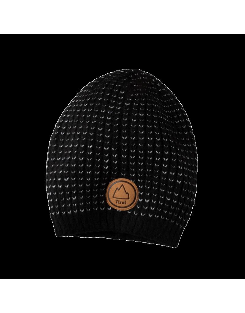 """Wer sagt denn, dass man immer einen kühlen Kopf bewahren soll? Die Mütze """"Alessa"""" ist ein Stylegarant und ein Must-have an kalten Tagen: Lässige Winter-Looks in der City und auf der Skipiste ergänzen wir mit dieser coolen Strickmütze vom Tirol Shop, die mit Strick-Design und Lederpatch zum Accessoire der Saison wird.    eingenähtes Fleeceband   mit Lederpatch   Material: 57% Polyamid, 43% Viskose"""