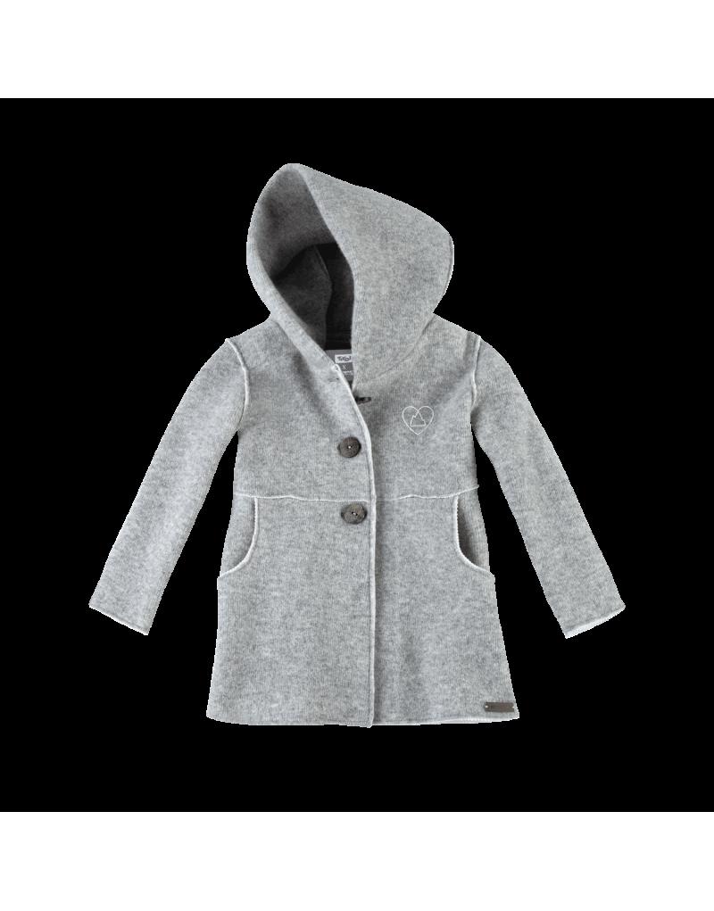 Kindermantel mit großer Kapuze   aus feinstem Lammwoll-Double-Walkstoff   mit reinem Bergwasser gewalkt   ideal für Outdoor-Outfits in der kalten Jahreszeit   natürlich schmutzabweisend   Material: 100% Lammwolle