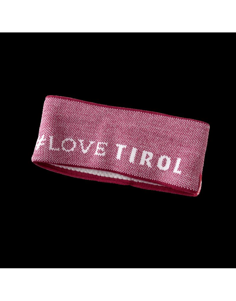 """Schön kuschelig: Stirnband """"Irene"""" mit #lovetirol Muster.    eingenähtes Fleeceband   Einheitsgröße   Material: 50% Schurwolle, 50% Polyacryl"""