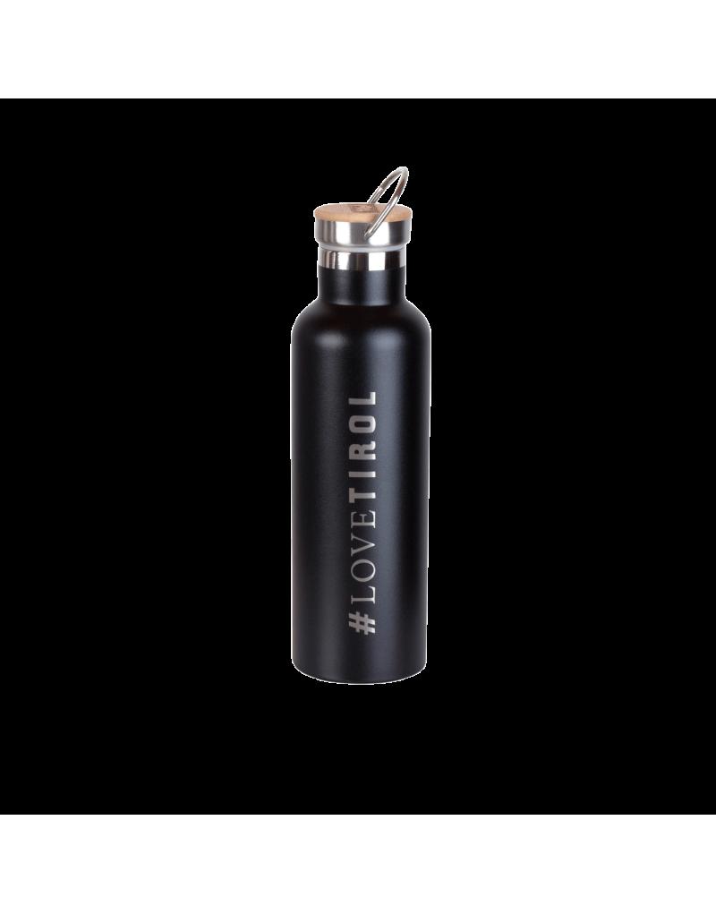 aus lebensmittelechtem, rostfreiem Stahl   hält heiße Getränke 12 Stunden heiß, kalte bis 24 Stunden kalt   hygienisch, robust und langlebig   die perfekte Alternative zur Plastik oder Aluminiumflasche   sandgestrahlte Prints   Volumen: 750 ml