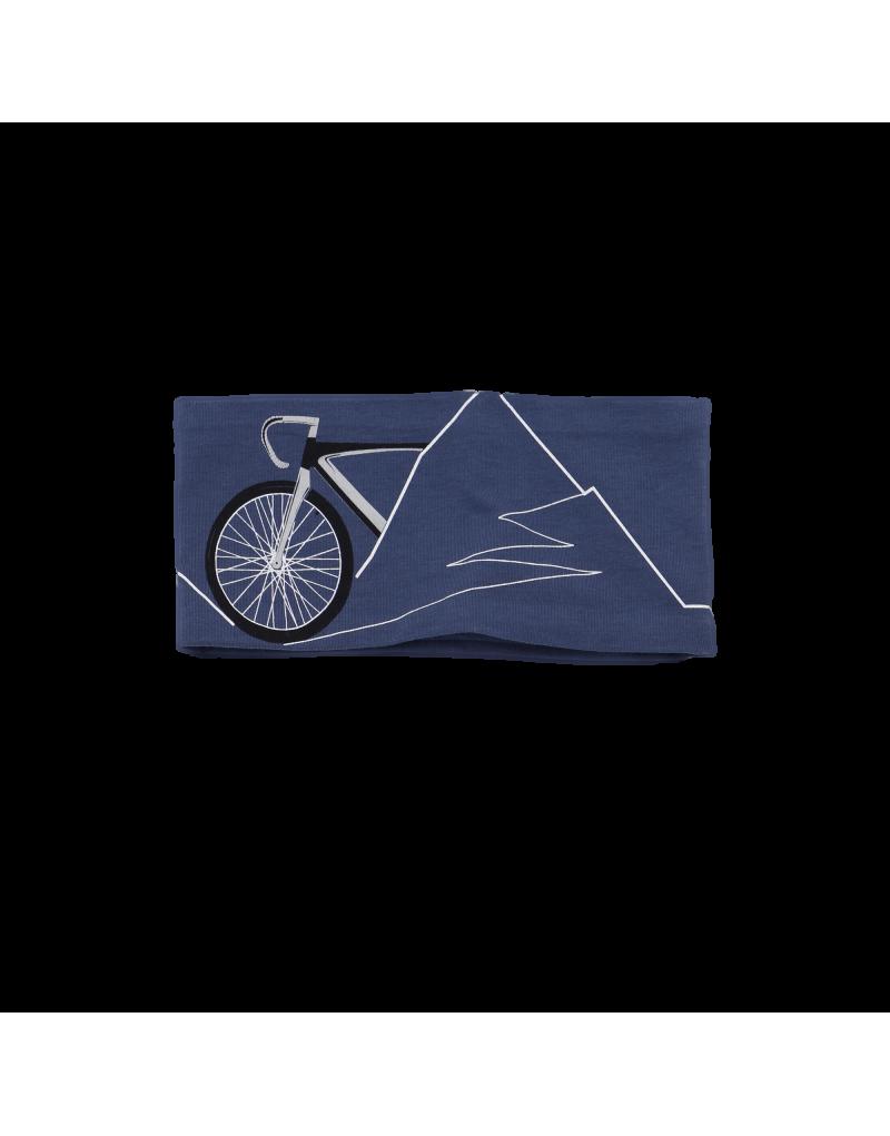Jersey Stirnband - Unisex   Rad-Bergprint   95% Baumwolle, 5% Elastan
