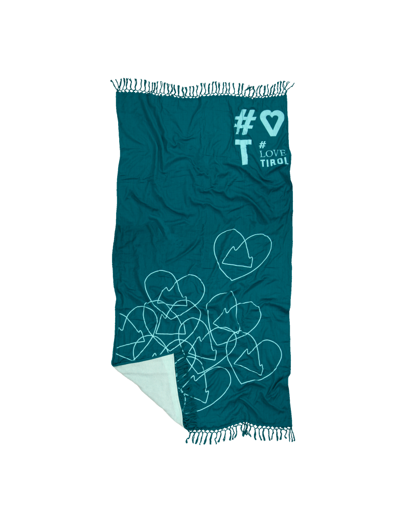 Jacquard gewebtes Strandtuch   saugfähig und superleicht   lässt sich auch spontan mal als Pareo oder Picknick-Decke umfunktionieren   bitte beim ersten Waschgang das Tuch separat waschen   Maße: 100 x 170 cm